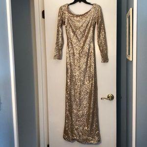 Sorella Vita Gold Sequin Gown